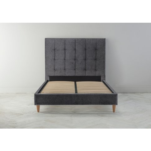 Hopper 5' King Bed Frame In Crow Black