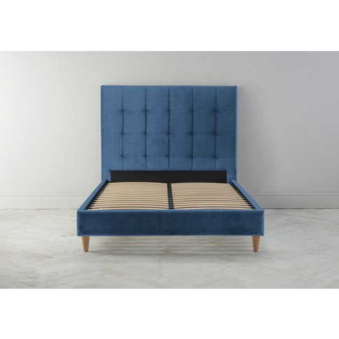Hopper 5' King Bed Frame In Oxford Blue