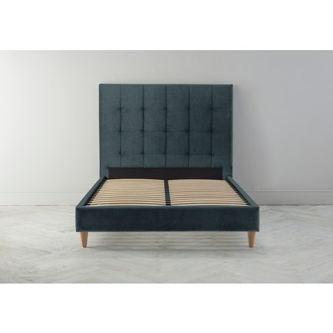 Hopper 6' Super King Bed Frame In Denim Blue