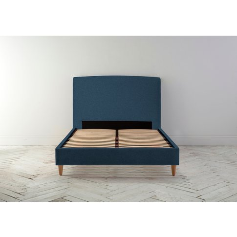 """Ted 4'6 Double Bed Frame In Oxford Blue"""""""