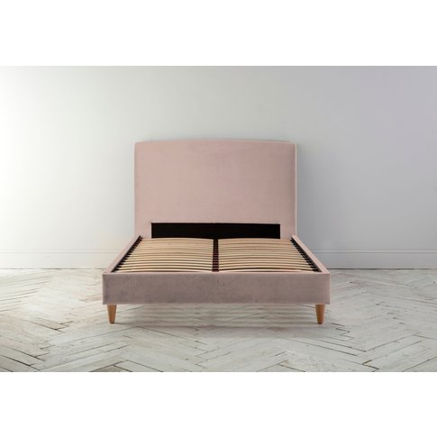 Ted 4'6 Double Bed Frame In Portrait Pink""