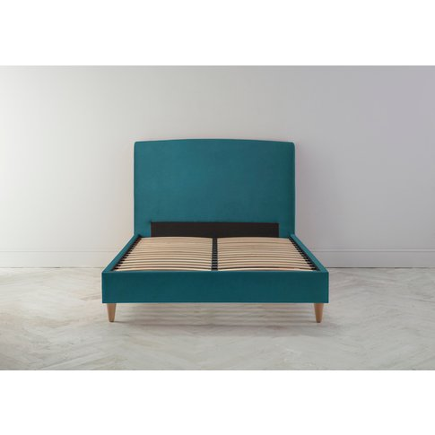 """Ted 4'6 Double Bed Frame In Steel Blue"""""""