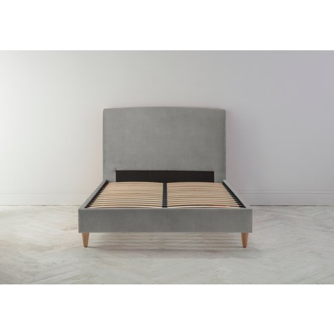 Ted 5' King Bed Frame In Bone Grey