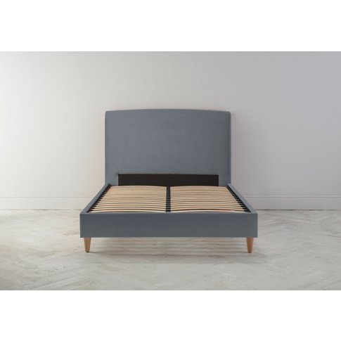Ted 5' King Bed Frame In Silver Spoon