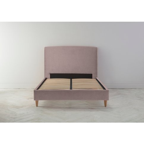 Ted 6' Super King Bed Frame In Blush Pink