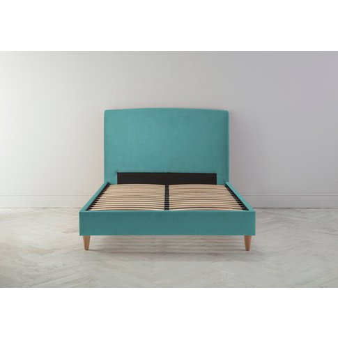 Ted 6' Super King Bed Frame In Turkish Blue
