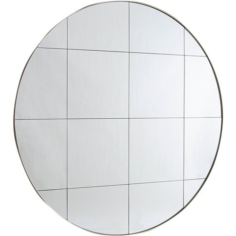 Harrison Round Wall Mirror In Silver