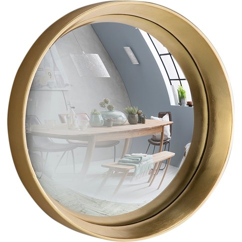 Sorel Convex Mirror In Gold, Medium