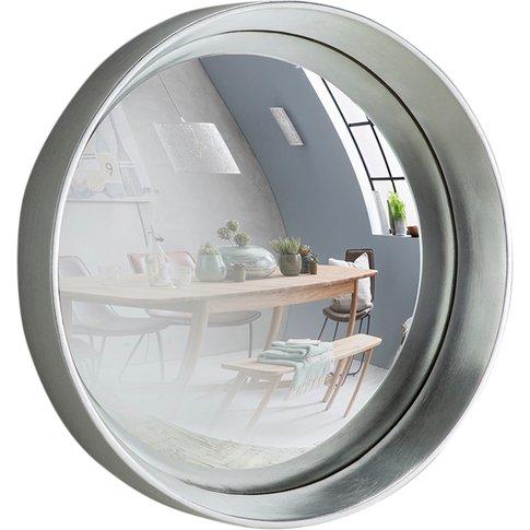 Sorel Convex Mirror In Silver, Medium