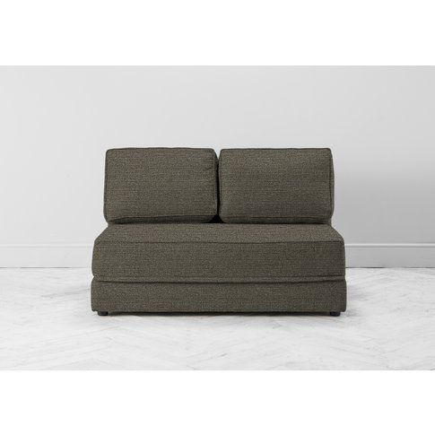 Dacre Two-Seater No Arms Sofa Bed In Champagne Shower