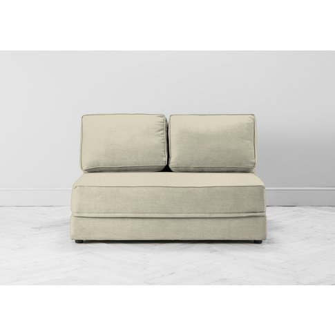 Dacre Two-Seater No Arms Sofa Bed In Chantilly Cream