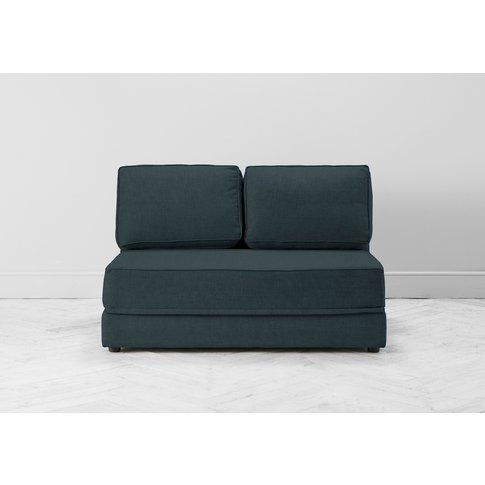 Dacre Two-Seater No Arms Sofa Bed In Denim Blue