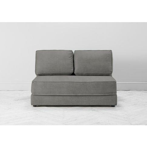 Dacre Three-Seater No Arms Sofa Bed In Bone Grey