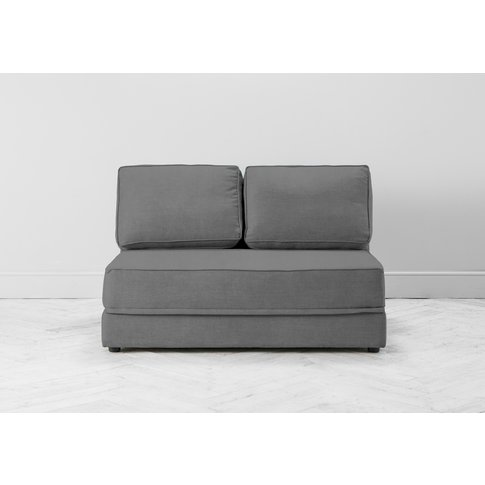 Dacre Three-Seater No Arms Sofa Bed In Proper Grey