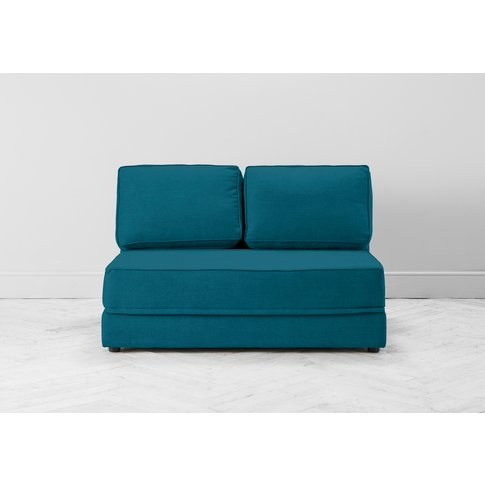 Dacre Three-Seater No Arms Sofa Bed In Spanish Blue