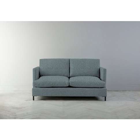 Justin Two-Seater Sofa Bed In Caspian Blue