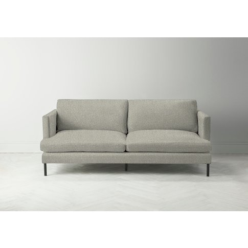 Justin Four-Seater Sofa In Silver Weave