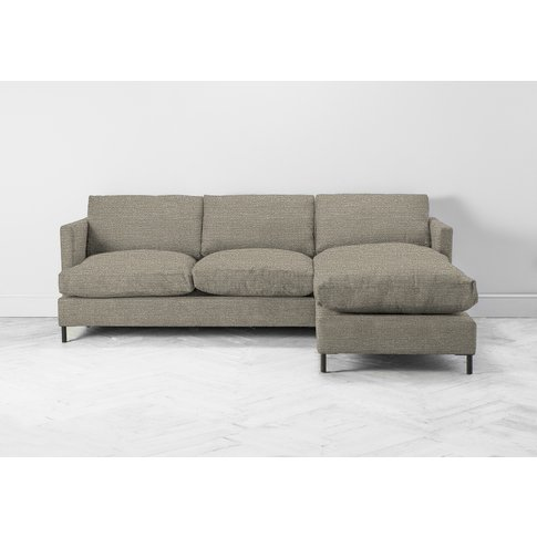 Justin Right Hand Chaise Sofa Bed In Diamond Dust
