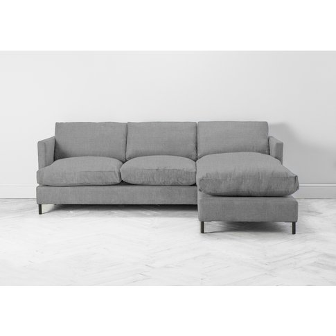 Justin Right Hand Chaise Sofa Bed In Silver Spoon