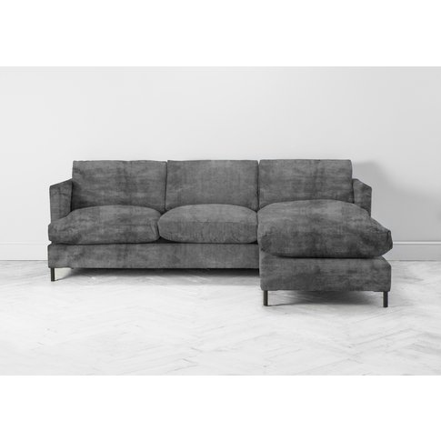 Justin Right Hand Chaise Sofa In Cloudy Grey