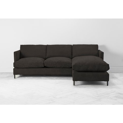Justin Right Hand Chaise Sofa In Mocha