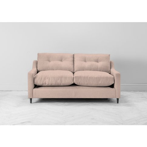 Nathan Two-Seater Sofa Bed In Rose Petal