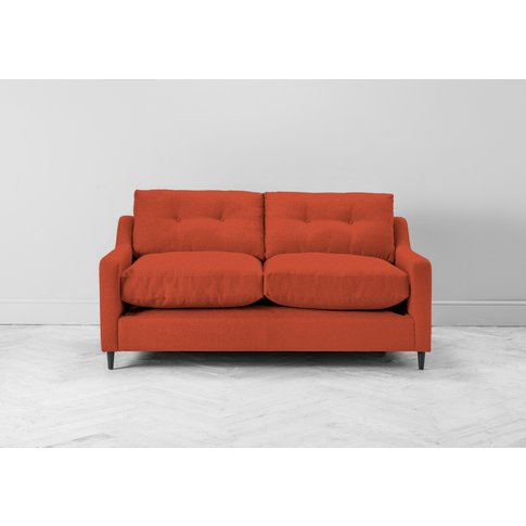 Nathan Three-Seater Sofa In Marmalade Orange