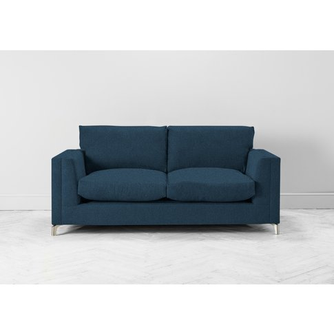 Chris Three-Seater Sofa Bed In Oxford Blue