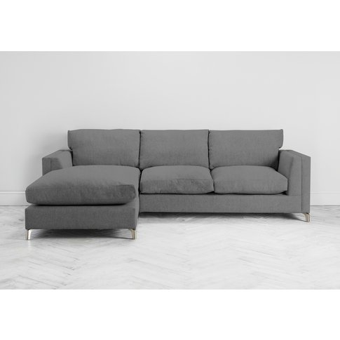 Chris Left Hand Chaise Sofa In Proper Grey
