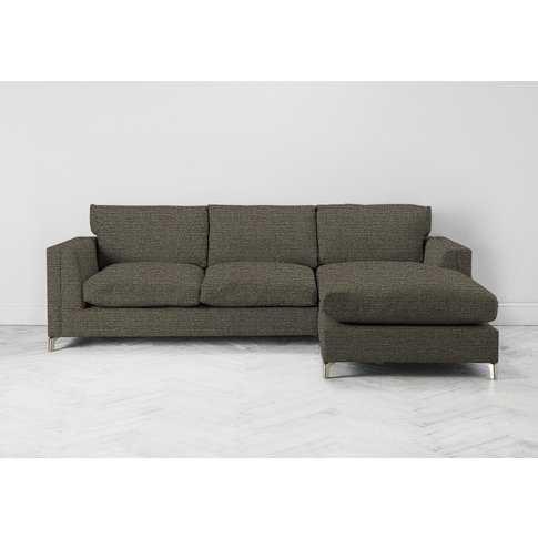 Chris Right Hand Chaise Sofa In Champagne Shower