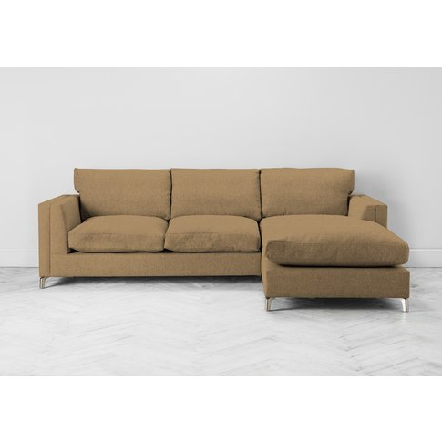 Chris Right Hand Chaise Sofa In Ginger Tea