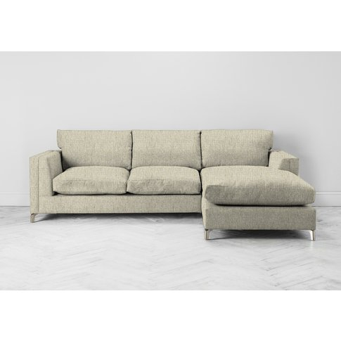 Chris Right Hand Chaise Sofa In Oatmeal