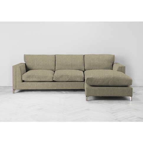 Chris Right Hand Chaise Sofa In Tortellini
