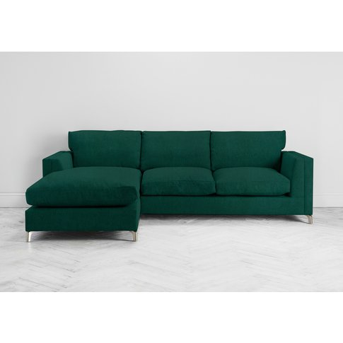 Chris Left Hand Chaise Sofa Bed In Ocean Reef