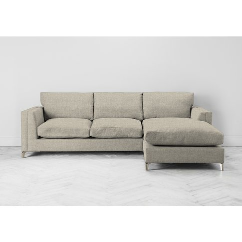 Chris Right Hand Chaise Sofa Bed In Bone Grey