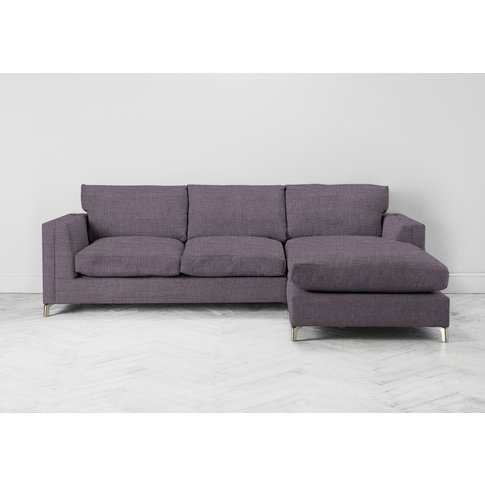 Chris Right Hand Chaise Sofa Bed In Violet Leaf