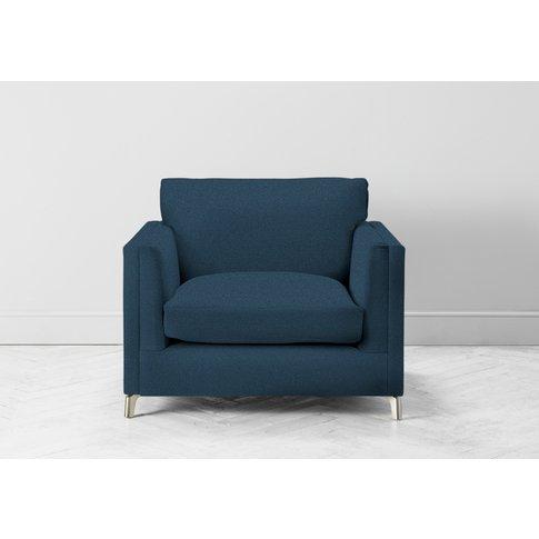 Chris Armchair In Oxford Blue