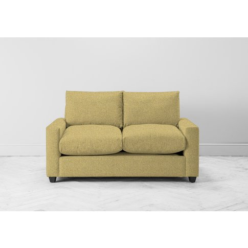 Mimi Two-Seater Sofa Bed In Trombone Yellow