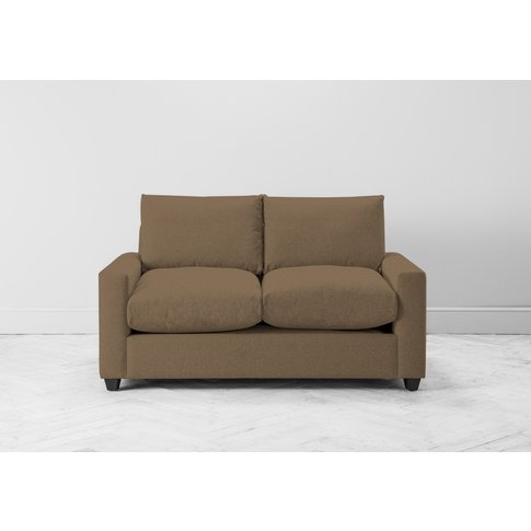 Mimi Three-Seater Sofa Bed In Saddle Brown