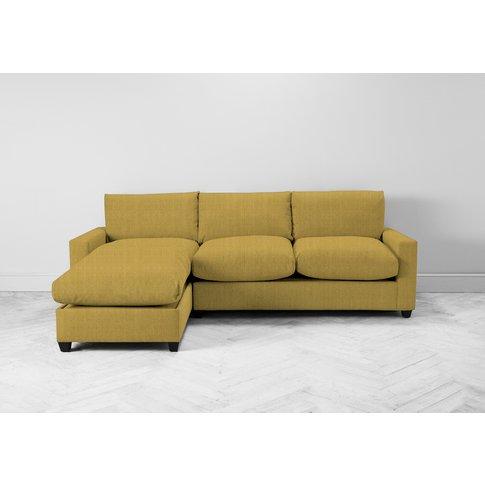 Mimi Left Hand Chaise Ottoman Sofa Bed In Dandelion