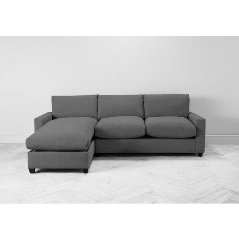 Mimi Left Hand Chaise Ottoman Sofa Bed In Proper Grey