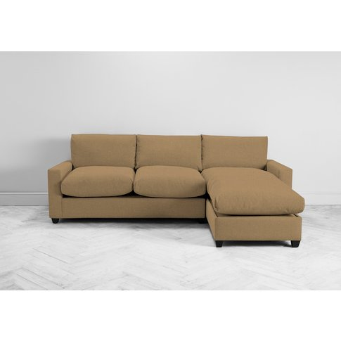 Mimi Right Hand Chaise Ottoman Sofa Bed In Ginger Tea