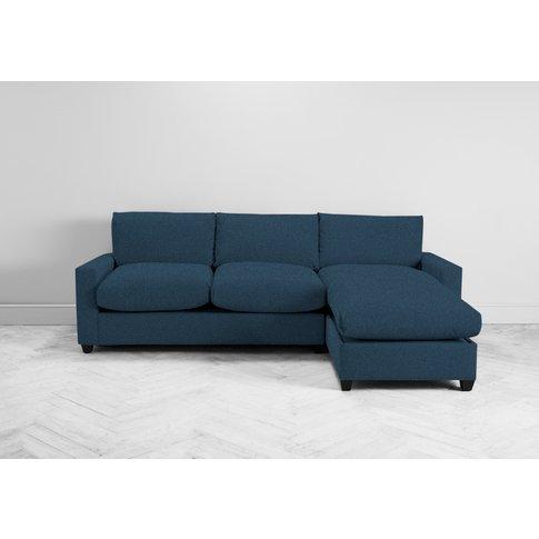 Mimi Right Hand Chaise Ottoman Sofa Bed In Oxford Blue