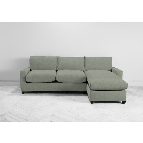 Mimi Right Hand Chaise Ottoman Sofa Bed In Peppermint