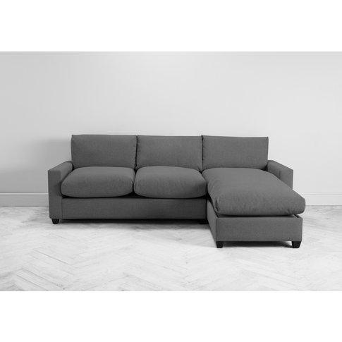 Mimi Right Hand Chaise Ottoman Sofa Bed In Proper Grey