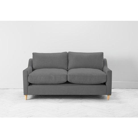 Josh Two-Seater Sofa Bed In Proper Grey