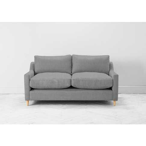 Josh Two-Seater Sofa Bed In Silver Spoon