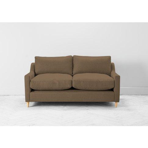 Josh Three-Seater Sofa In Saddle Brown