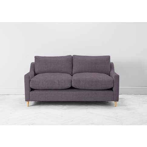 Josh Three-Seater Sofa In Violet Leaf