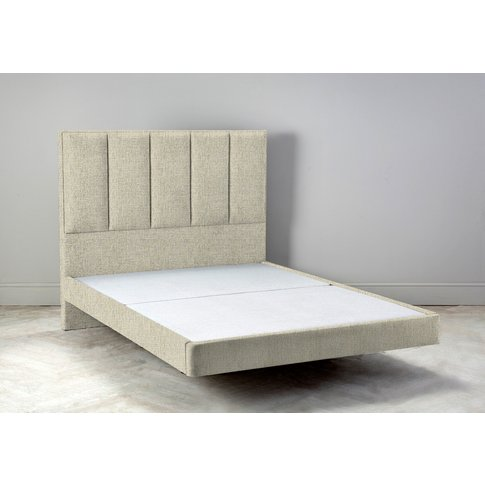 """Waft 4'6 Double Size Bed Frame In Oatmeal"""""""